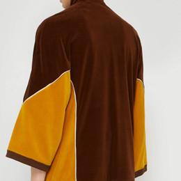 Велюровая спортивная одежда онлайн-19fw роскошный Европейский Trucksuit мода панелями с длинным рукавом удобный велюр новый стиль женщины мужской дизайнер спортивной одежды HFKYTZ003