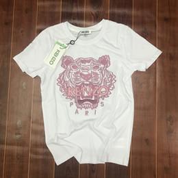 2019 tarjetas de mtg Diseñador de verano camisetas para hombre tops tiger head carta bordado camiseta para hombre ropa marca manga corta camiseta mujeres tops