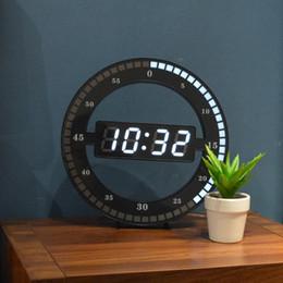 2020 modernos, parede, relógios, conduzido Sala Relógio de parede Mute criativa Digital eletrônico LED Noite Simples Brilho Redonda Decoração minimalista Wall Decor Modern modernos, parede, relógios, conduzido barato