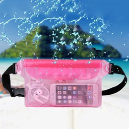 Sacchetto della cinghia del telefono mobile online-Impermeabile Bumbag per uomini e donne Fannypack Trasparente Color Style Beach Bum Bag Donna Money Belt Borsa da viaggio cellulare