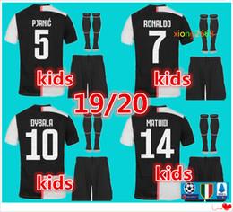 2020 RONALDO kit da calcio per bambini 19/20 DYBALA JUVE EA SPORTS kit per bambini Maillot de foot Bernardeschi da