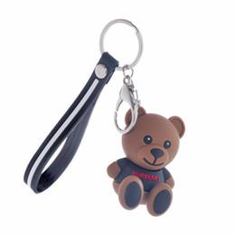 2019 черные плюшевые мишки Брелок кожаных черных Женщины Роскошных Мужчины Медведь брелок Женщина Cute Bear Teddy животные дешево черные плюшевые мишки