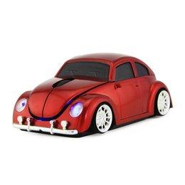 Escarabajo del ratón online-Ratón inalámbrico Bluetooth para computadora Ratón escarabajo en forma de coche Ratón óptico de 1000 ppp para PC portátil