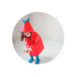 Gelbe regenmantel kinder online-Kinder Regenmantel Cartoon Dinosaurier Wasserdichte Mantel für Kinder Winddicht Regen Mantel Junge Mädchen Poncho Student Regenjas Kinderen Gelb 18 Mt-8 T