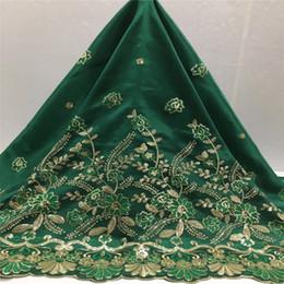 2019 grünes georgegewebe grüne Farbe Indian Design Afrikanischer George Spitzegewebe 2016 / Nigeria Brautkleid Stoff lila Gold rabatt grünes georgegewebe