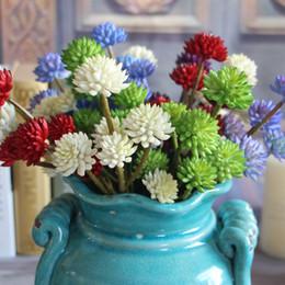 piante fiorite indoor in plastica Sconti Plastica micro paesaggio longevità pianta spray colore succulente artificiale in vaso 6 rami fiore d'imitazione indoor decorare all'aperto 3 7ydc1
