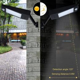 decorazione stradale Sconti 48/60 luci solari senza fili del LED LED Outdoor Decor Impermeabile PIR sensore di movimento solare applique da parete per Garden Street lampade solari