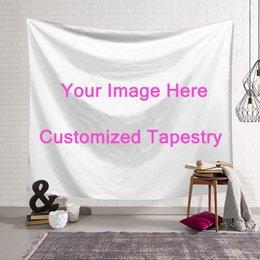 2019 decorações hippie Personalizado Hanging Design Tapeçaria parede DIY tapete Photo Custom Made impresso Folha de cama toalha de mesa Yoga Mat Home Decor Dropshipping