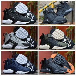 95bcadd23b27 2019 New Air Huarache 6 X Acronym City MID Leather High Top Huaraches Mens  Trainers Running Shoes Men Huraches Sneakers Hurache Size 40-45
