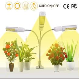 natrium-glühbirnen Rabatt 66W Vollspektrum LED Pflanze wachsen Licht mit automatischer Abschaltung Memory Timer-Funktion, flexible 3-Kopf einstellbare Schwanenhals USB 3A Powered