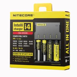 2019 carregador inteligente nitecore i4 Originais Nitecore I4 Carregador universal e cigs cigaretters eletrônicos carregador de bateria para 14500 18650 Li-ion Ni-MH Ni-Cd Intellicharger