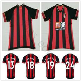 rey tailandés Rebajas 2019 camiseta de fútbol de calidad tailandesa 13 WILSON 18 DEFOE STANISLAS FRASER KING Personalizar Inicio Rojo Negro 19 20 Camiseta de fútbol para adultos