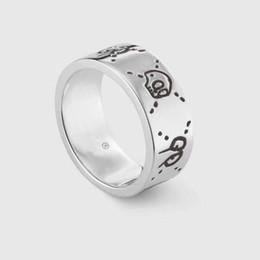 925 sterling silber schädel ring Rabatt Beliebte Modemarke 925 Sterling Silber Schädel Designer Ringe für Dame Entwurfs-Frauen-Partei-Hochzeit Luxus-Schmucksachen mit für die Braut mit Kasten.