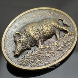 regali occidentali per gli uomini Sconti Fibbia della cintura di nuovo modo Western Antique Gold cinghiale maiale animale caccia trattore fattoria uomini regalo