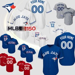 Бейсбол торонто онлайн-Торонто Блю Джейс Джерси 27 Владимир Guerrero младший 6 Маркус Stroman 19 Хосе Баутиста 12 Роберто Аломар 11 Kevin CUSTOM бейсбола трикотажных изделий