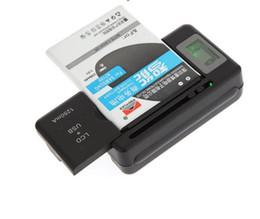 2019 carregadores de madeira por atacado Carregador de bateria universal inteligente Indicador LCD principal para Samsung Galaxy S4 i9500 S3 I9300 NOTA 3 S5 i9600 com usb carga de saída móvel