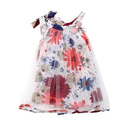 Nouveau-né Bébés Filles Robe Florale Sans Manches Princess Party Pageant Dentelle Tutu Robe Droite ? partir de fabricateur