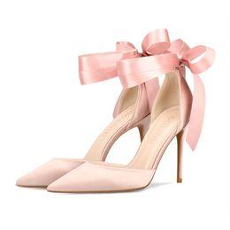 zapatos de la boda de raso de marfil vuelos Rebajas 2019 zapatos de boda 10 cm zapatos de tacón alto nupcial en stock vestido de noche del partido del baile de fin de curso de la boda nupcial en punta zapatos de huevas envío gratis