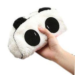 Panda crayon mignon en Ligne-1 pcs Dessin Animé Mignon Chat Panda Forme Doux En Peluche Cosmétique Maquillage Sac Pochette Stylo Crayon Étui Organizador