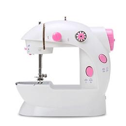 Mini macchina da cucire a mano a doppio piede Macchina da cucire a doppia velocità Mini pedale elettrico portatile a doppio filo Riavvolgitori da