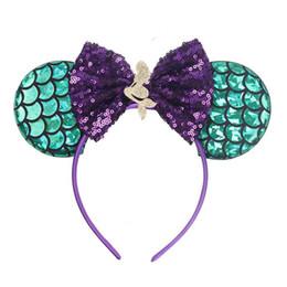 Mermaid Kids Hair Sticks fiocchi per capelli fasce per bambini Beach Party girls designer fascia per bambini designer fasce per capelli accessori di design A6826 da