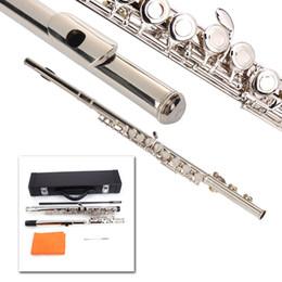 2019 professionelle okarina Neue hochwertige versilberte 16 geschlossene Löcher C mit E-Key-Flöte