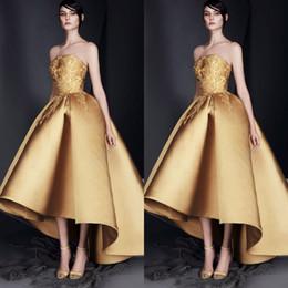 Lo broderie en Ligne-Robes de soirée en or robes de bal 2019 Salut-Lo Modest Dubaï robe de bal arabe arabe robe de soirée robe de broderie sur mesure