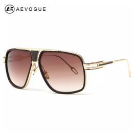 2019 i più nuovi stili di vetro All'ingrosso-AEVOGUE Occhiali da sole da uomo Più nuovo vintage Grande telaio Goggle Summer Style Brand Design Occhiali da sole Oculos De Sol UV400 AE0336 sconti i più nuovi stili di vetro