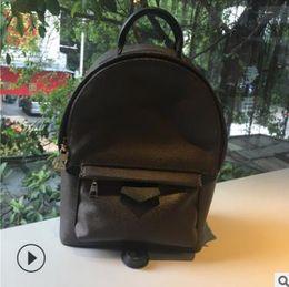 Mini mochilas de couro para mulheres on-line-Hight qualidade das Mulheres Palm Springs designer Mochila Mini pu de couro crianças mochilas mulheres impressão mochila M41560 6 cor