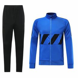 Команда milan онлайн-19-20 Интер Милан куртка трикотаж с длинным рукавом куртка футбольная форма команды тренировочный костюм куртка осень и зима