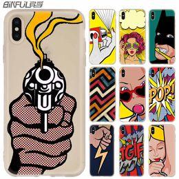 Wholesale Casos de telefone pop art lichtenstein luxo silicone macio capa para iphone xi r x xs max xr s plus s se coque