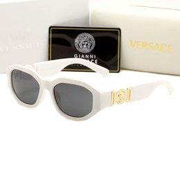 Пластина материала онлайн-Роскошные солнцезащитные очки medusa 2161 негабаритный металлический квадратный каркас мужские фирменные дизайнерские очки позолоченный материал анти-UV400