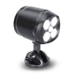 Аккумуляторная лампа онлайн-BRELONG 4LED супер яркий прожектор сова индукционный настенный светильник с датчиком движения атмосферостойкий аккумулятор