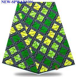 robes en dentelle vert citron Promotion 2019 dernières 100% coton africain tissu cire holland style réel néerlandais cire hollandais pour robe de soirée 6 yard / lot MX006