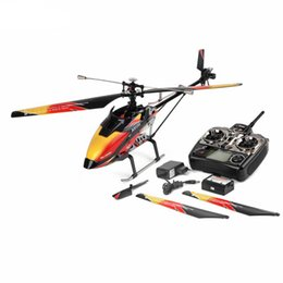 Helicóptero rc 4ch sin escobillas online-V913 RC Helicóptero 2.4G 4CH Hoja Única Gyro Incorporado Super Estable de Vuelo de Alta Eficiencia Modelo Brushless Motor Drone
