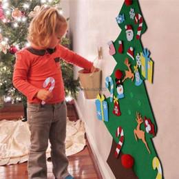 оптоволоконная легкая игрушка Скидка Рождественская елка DIY Войлок Креативного Xmas Supplies подвеска Дети головоломка ручная работа Игрушка Главной Рождественская вечеринка украшение дверь Гобелен