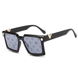 gafas aviador para hombre Rebajas El nuevo listado Designersss Moda Millonario deslumbrante impreso gafas de sol para hombre y mujeres de aviador gafas de sol con la caja postal LVLouisVuitton