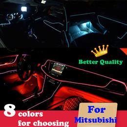 iluminación asx Rebajas 3 m / EL Cold Line Wire LED luz de tira del coche para Mitsubishi asx lancer 10 9 X outlander pajero l200 l300 accesorios