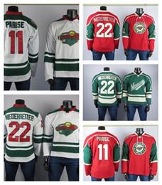 Jerseys cosidos de zach parise online-Minnesota Wild el mejor jugador del jerseys 11 Zach Parise Jersey 22 Niederreiter alta calidad de los hombres bordados jerseys de hockey sobre hielo cosido