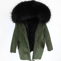 Nouvelle arrivée veste en velours côtelé avec doublure amovible en fourrure de raton laveur ? partir de fabricateur