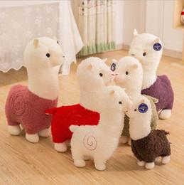 2019 bambole decorative all'ingrosso 28 cm / 11 pollici Lama Arpakasso Peluche Alpaca Morbido Peluche Kawaii Carino per Bambini regalo di Natale 6 colori per bambini regali carini