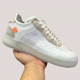 2019 New Mens Running Shoes 1 Low LVS hombre Sneakers Forces Men Trainers Sports Skateboard One Sports White Orange Air Designer Sneakers desde fabricantes