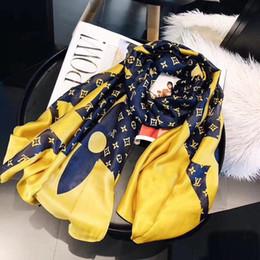 Canada 2019 été marque écharpe en soie femmes foulard de haute qualité lettre de concepteur Floral mince écharpe longue écharpes taille 180x90cm Offre