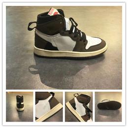 Niños azul marino zapatos niñas online-Diseñador de lujo Kids 1s Space To hook Concord Gym Rojo fuera de los zapatos de baloncesto Niños Boy Girls blanco Midnight Navy Zapatillas de deporte Niños pequeños