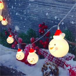 2019 luces de campana Luces de la secuencia llevadas Muñeco de nieve Luz de Navidad Pintado Bell Elk Vela Inicio Decoración de la boda Lámpara 10Led 1.8M Fairy Holiday Lights rebajas luces de campana