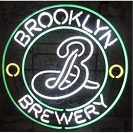 neon beer signs Coupons - New Star Neon Sign Factory 16X16 Inches Real Glass Neon Sign Light for Beer Bar Pub Garage Room Brooklyn Brewery.