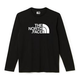 Canada Respirant Manches Longues Visage Hipster Nord LE Tee Pour Les Hommes T-Shirt Col Rond Unie Couleur Coton T-shirt De Base Noir Hommes Tshirts Eté supplier basic t shirt men Offre