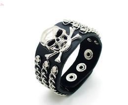 2019 collana di ambra nera Punk Spikes Rivet Braccialetto per bracciale unisex Bracciale in pelle con bracciale rock rock per bracciali in pelle moda hip-hop