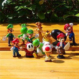 Plastica in miniatura online-18 stili MARIO super MARIO distribuisce bambole di plastica in miniatura di alta qualità