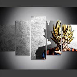 5 pezzi di grandi dimensioni tela wall art immagini creative anime Dragon Ball Z universo stampa artistica pittura a olio per soggiorno da